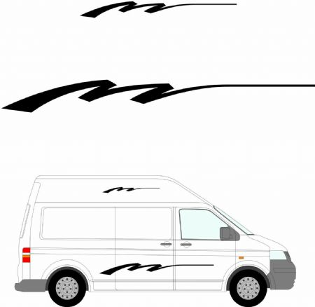 (No.198) MOTORHOME GRAPHICS STICKERS DECALS CAMPER VAN CARAVAN UNIVERSAL FITTING